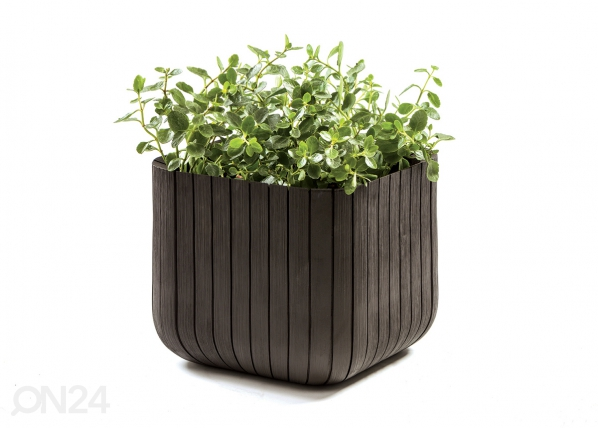 Цветочный горшок Keter Cube Planter, коричневый TE-109010