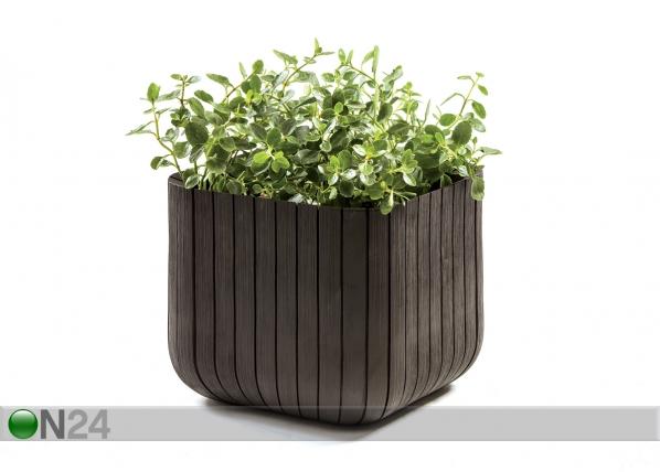 Цветочный горшок Keter Cube Planter, коричневый 40х40 cm TE-109012