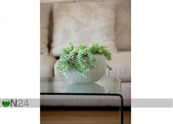 Цветочный кашпо Keter Cozies большой, серый TE-109034