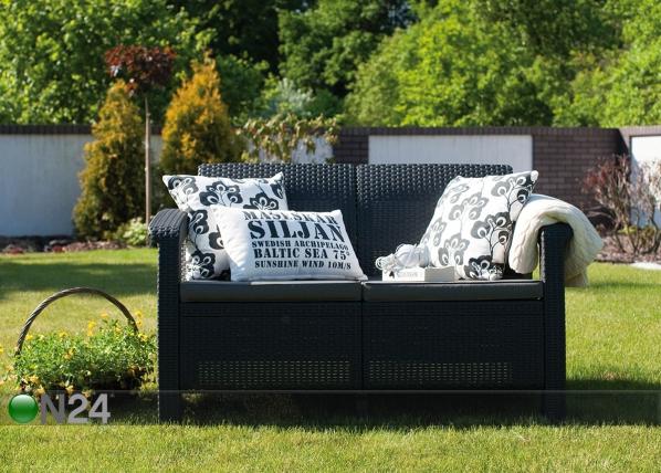 2-местный садовый диван Keter Corfu, graphite TE-109151