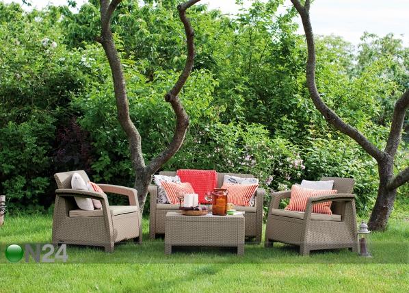 Комплект садовой мебели Keter Corfu, cappuccino TE-109160