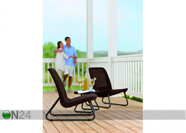 Комплект садовой мебели Rio, коричневый TE-109183