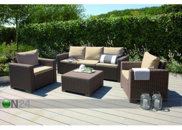 Комплект садовой мебели Keter California, cappuccino TE-109206