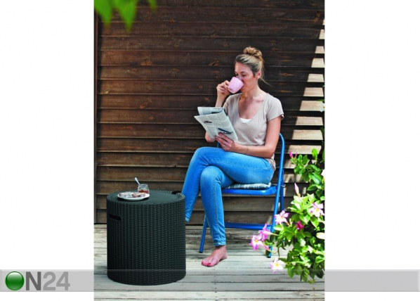 Пуф / столик Keter Cool Stool, anthracite TE-109220