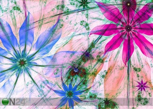 Флизелиновые фотообои Flower silhouettes 360x270 cm ED-109410