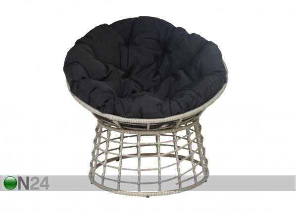 Кресло из ротанга Aada, серый EI-110512