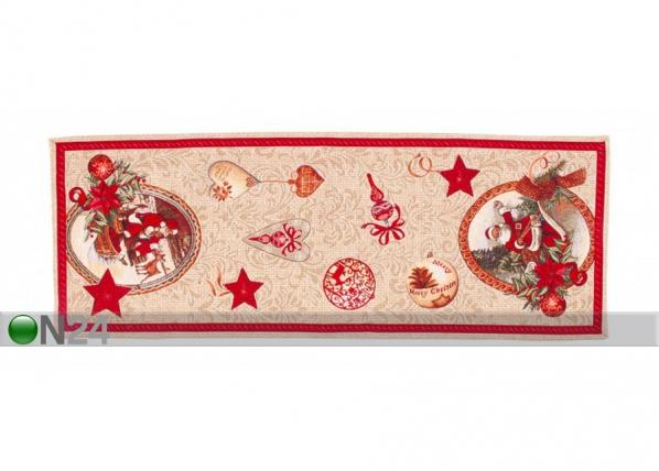 Рождественская салфетка из гобелена Santa Claus 37x100 cm TG-123461