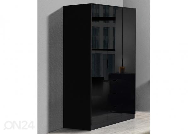 Шкаф платяной Letty black MA-130919