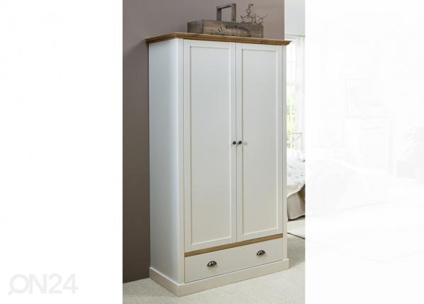 Шкаф платяной Sandringham, белый/дубовая морилка CM-142520