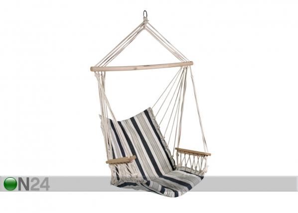 Кресло-гамак, бело-сине-полосатый EV-28652