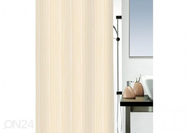 Текстильная штора для ванной Raya бежевый 180x200 см UR-29526