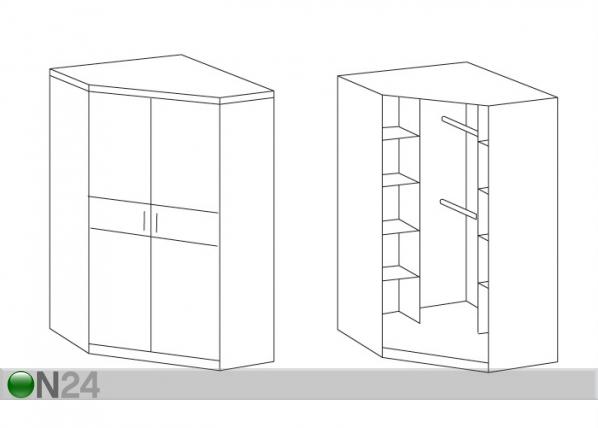 Угловой платяной шкаф gina sm-31803 - on24 мебельный магазин.