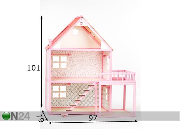 Roosi кукольный домик с балконом nk-35508 - on24 детский мир.