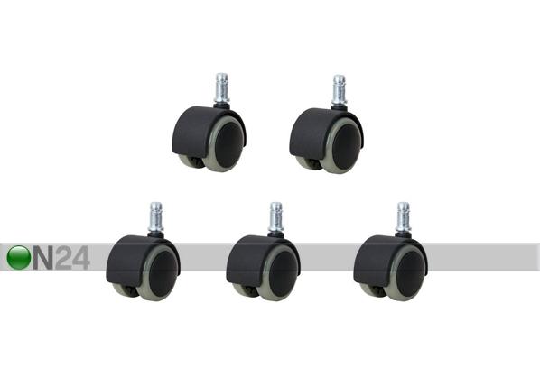 Комплект колес для рабочего стула 11 мм, 5 шт EV-44153