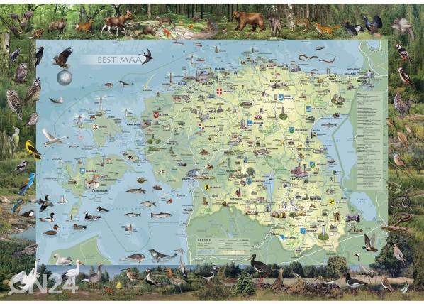 Regio карта Эстонии с подвесками 99x69cm RW-57750