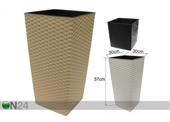 Цветочный горшок Finezia-R 30x30cm ET-64330