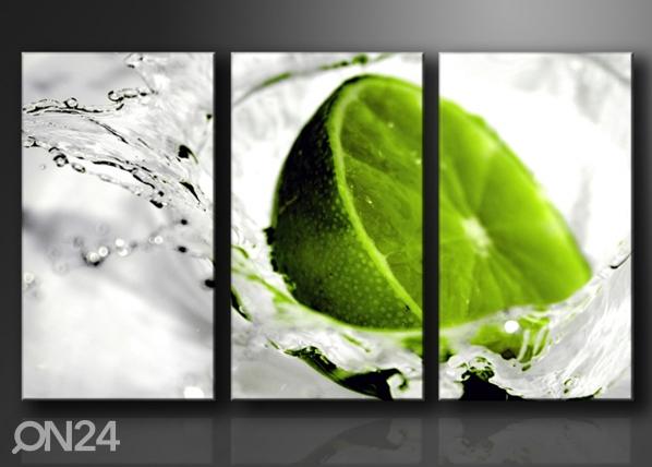 Картина из 3-частей Лайм ED-67576