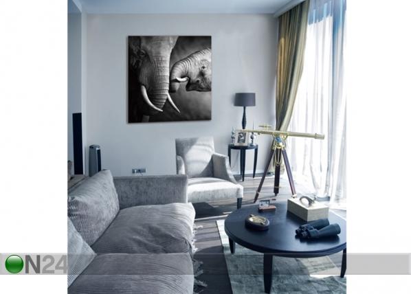 Картина Elephants 120x120 cm QA-72109