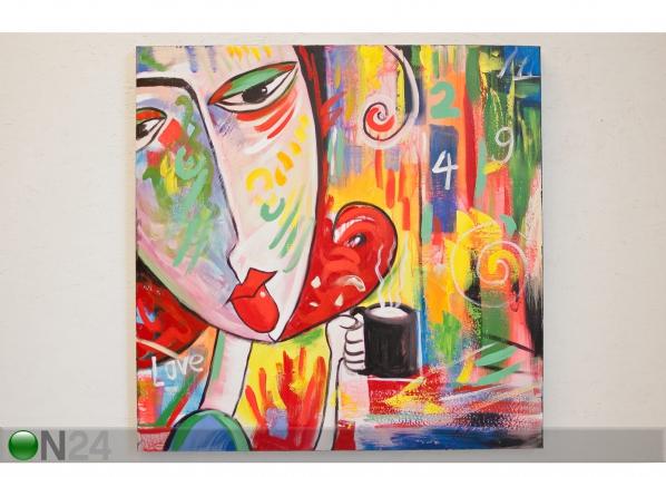 Масляная картина Кофейничающий 80x80 cm SI-78131