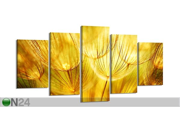 Картина из 5-частей Одуванчик 200x100 см ED-80894