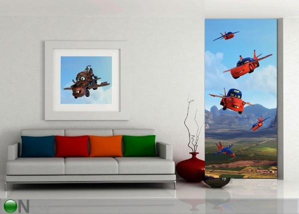 Флизелиновые фотообои Disney Cars flies 90x202 см ED-90940