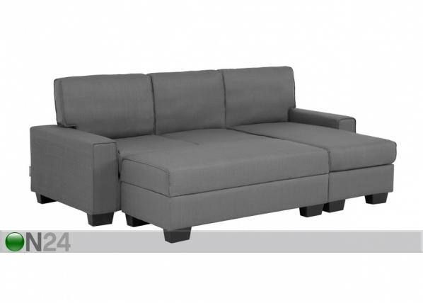 Угловой диван + пуф с ящиком Marika AQ-96251