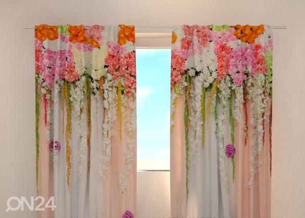 Затемняющая штора Flower lambrequins pink spring 240x220 cm ED-97935