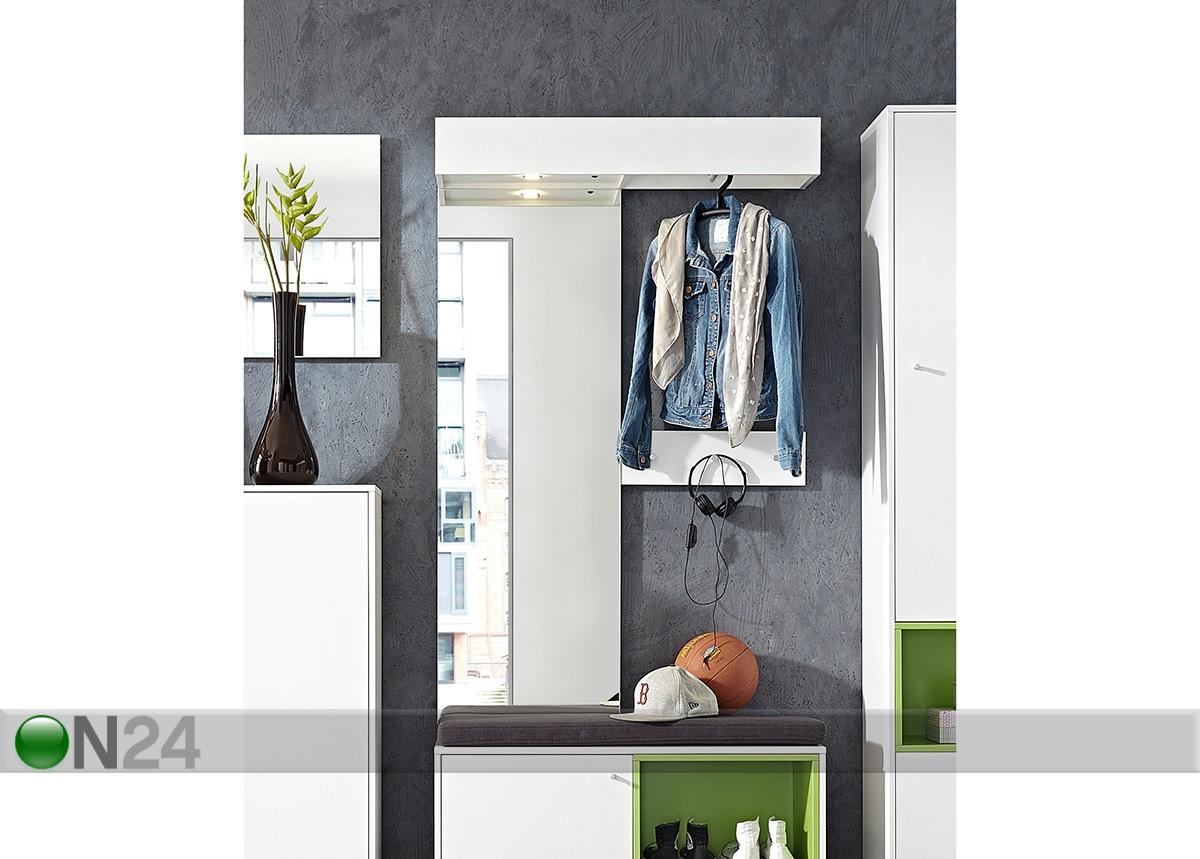 Навесная вешалка с зеркалом next sm-87472 - on24 мебельный м.