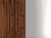 Тёмная древесина / серебро